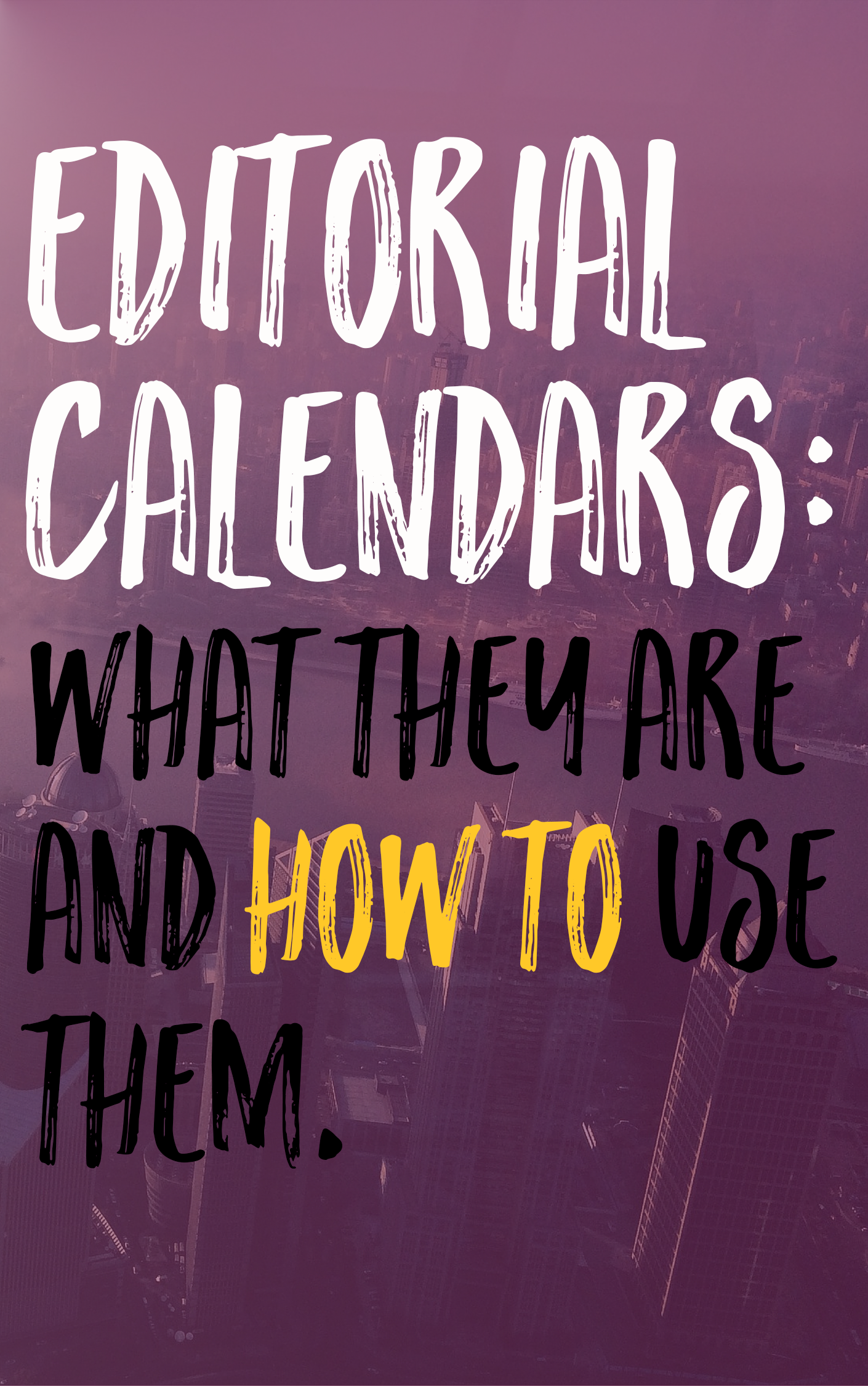 An editorial calendar is imperative to running a successful blog and keeping stress to a minimum. If you're looking to streamline your blog and make your life a whole lot easier check out how you can create an editorial calendar in Google Calendar!