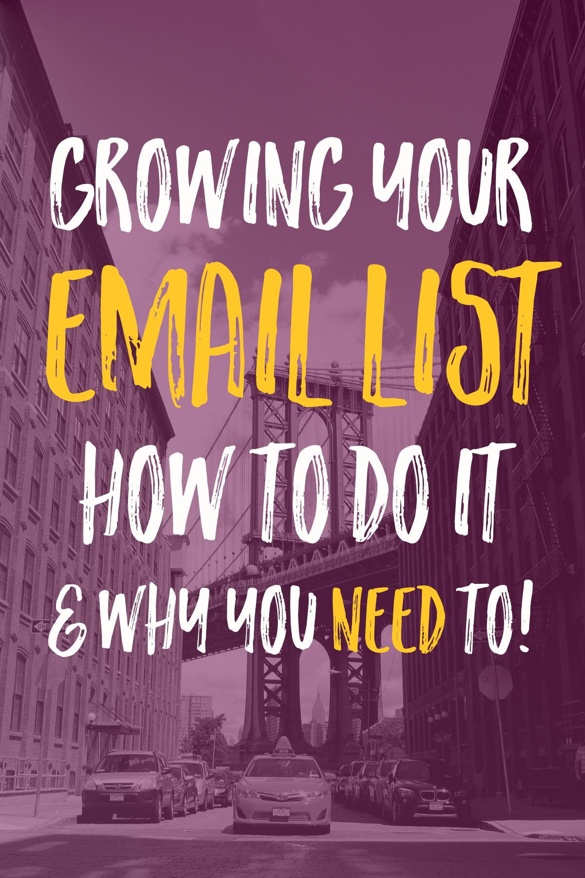 Growing your email list is one of the most important things that you can do for your business, and it's not hard! Let me walk you through the process!