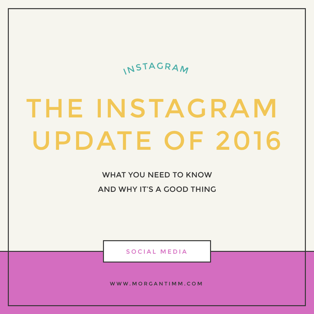INSTAGRAM UPDATE 2016