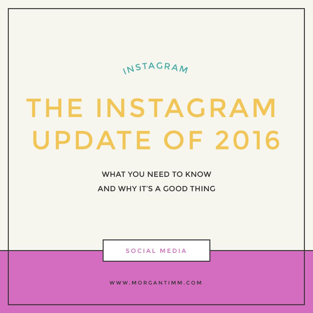 INSTAGRAM UPDATE 2016